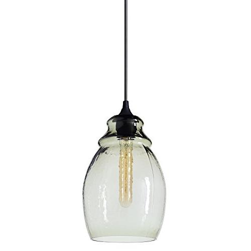 pendant light handblown glass drop