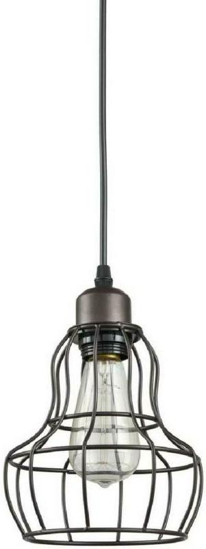 PENDANT LIGHT Minimalist 1-Light Oil Rubbed Hanging Wire By YOBO