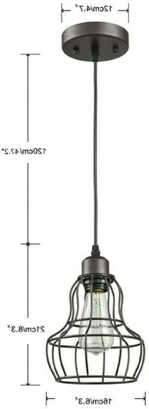 PENDANT Oil Rubbed Wire By YOBO LIGHTING