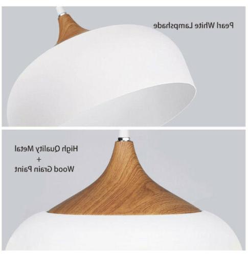 Tomons Light with Bulb, Wood Pattern Dome