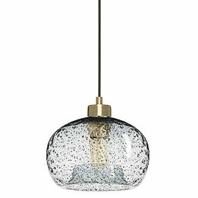 pendant lighting handblown glass drop ceiling brushed