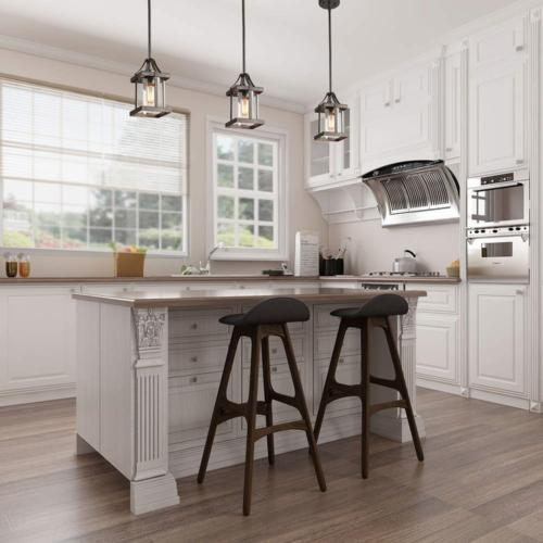 LNC Pendant & Faux Finish Chandelier with Shade