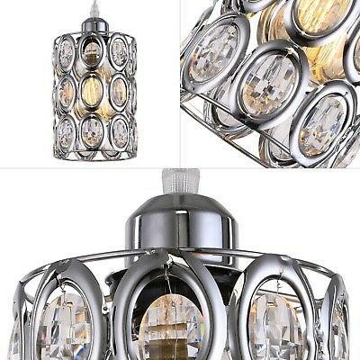 Plug Pendant Light Fixture Crystal Chrome Mini New
