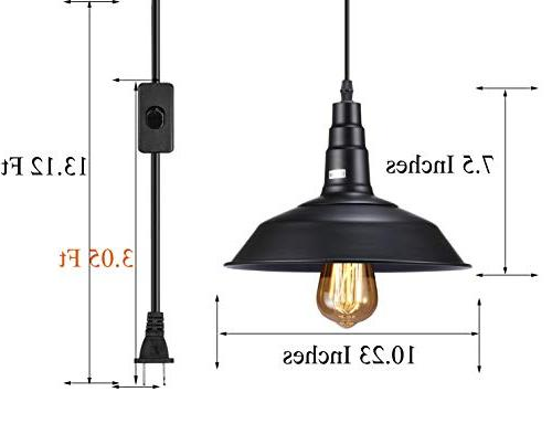 FadimiKoo Light E26 E27 Industrial Hanging Hanging Light 13.12ft Cord 2 Pack