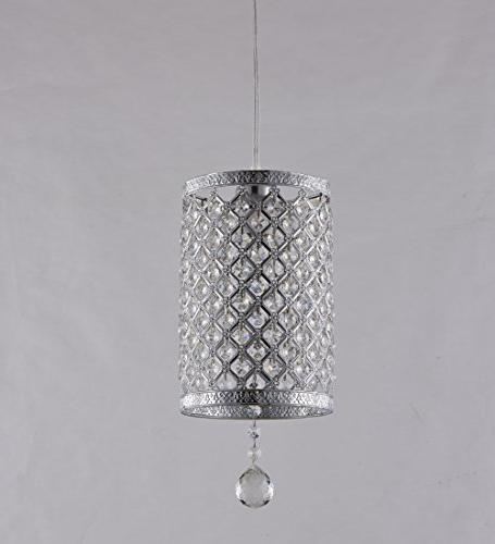 Surpars House in Pendant Silver Crystal Chandelier with 17' and Line