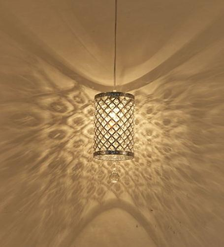 Surpars House Pendant Light Crystal Chandelier Cord and On/off Line