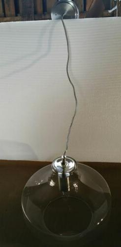 Retro Glass Pendant Light Fixture Industrial Hanging Ceiling