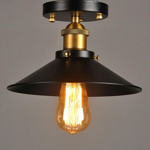 Retro Industrial Light Vintage Ceiling Lamp Cafe Hanging Fixture