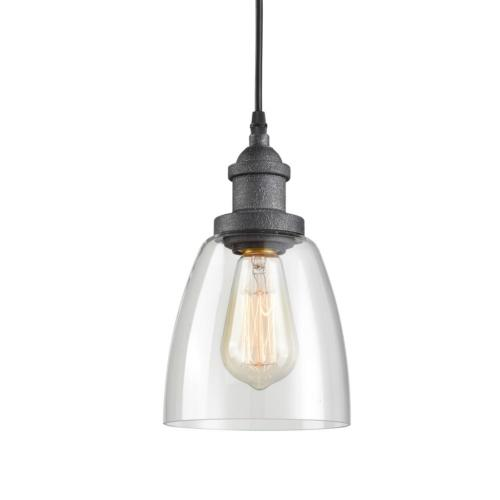 rustic glass pendant lights with clear glass