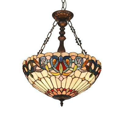 """SERENITY Tiffany-style 3 Victorian Inverted 18"""""""