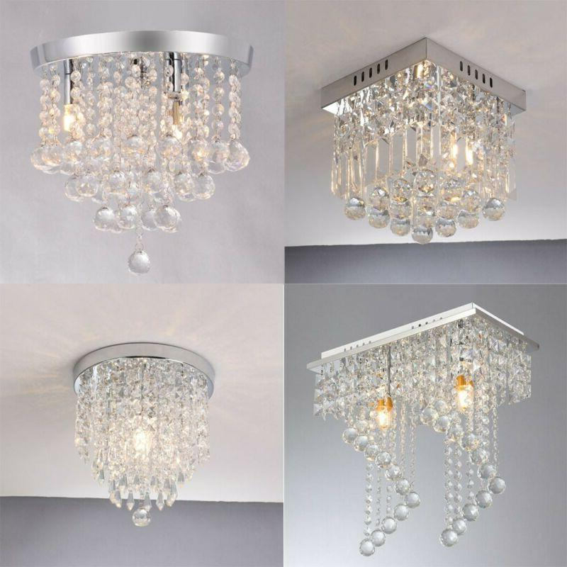 silver pendant ceiling lamp crystal ball fixture
