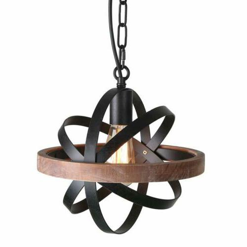 Spherical Changeable Pendant Light Kitchen Rustic Edison