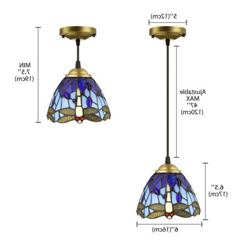Stained Style Hanging Ceiling Light