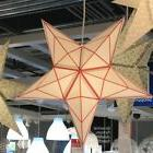 IKEA Strala Red White Star Lamp Shade + Pendant Light Fixtur