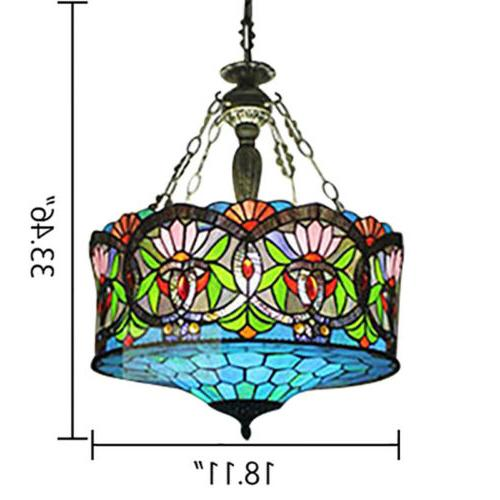 Tiffany Stained Glass Baroque Lantern Lamp Lighting