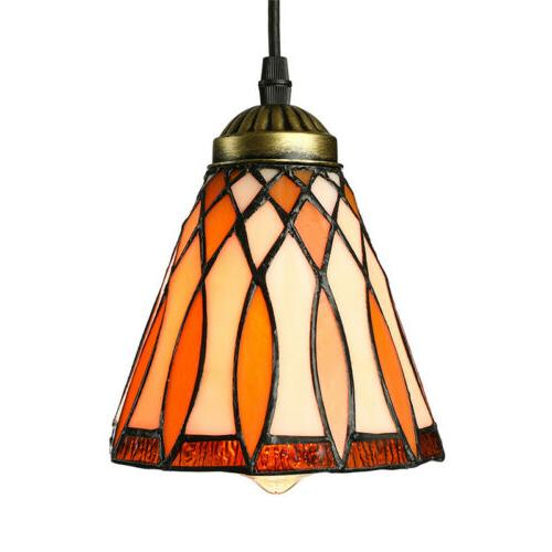 Tiffany Stained Ceiling Pendant Light Single Hanging Lamp