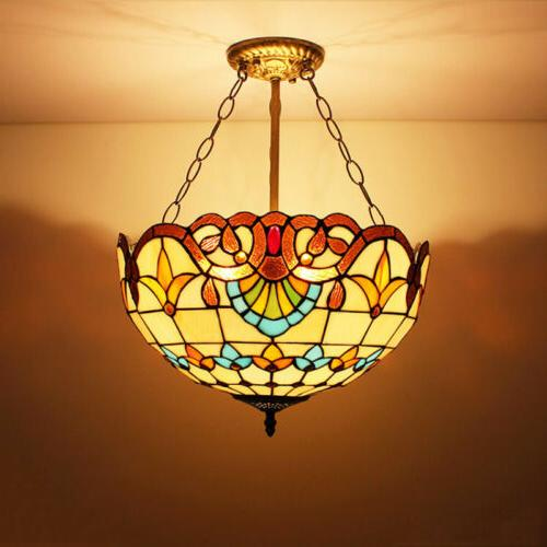 Tiffany Ceiling Light Glass Mission Chandelier
