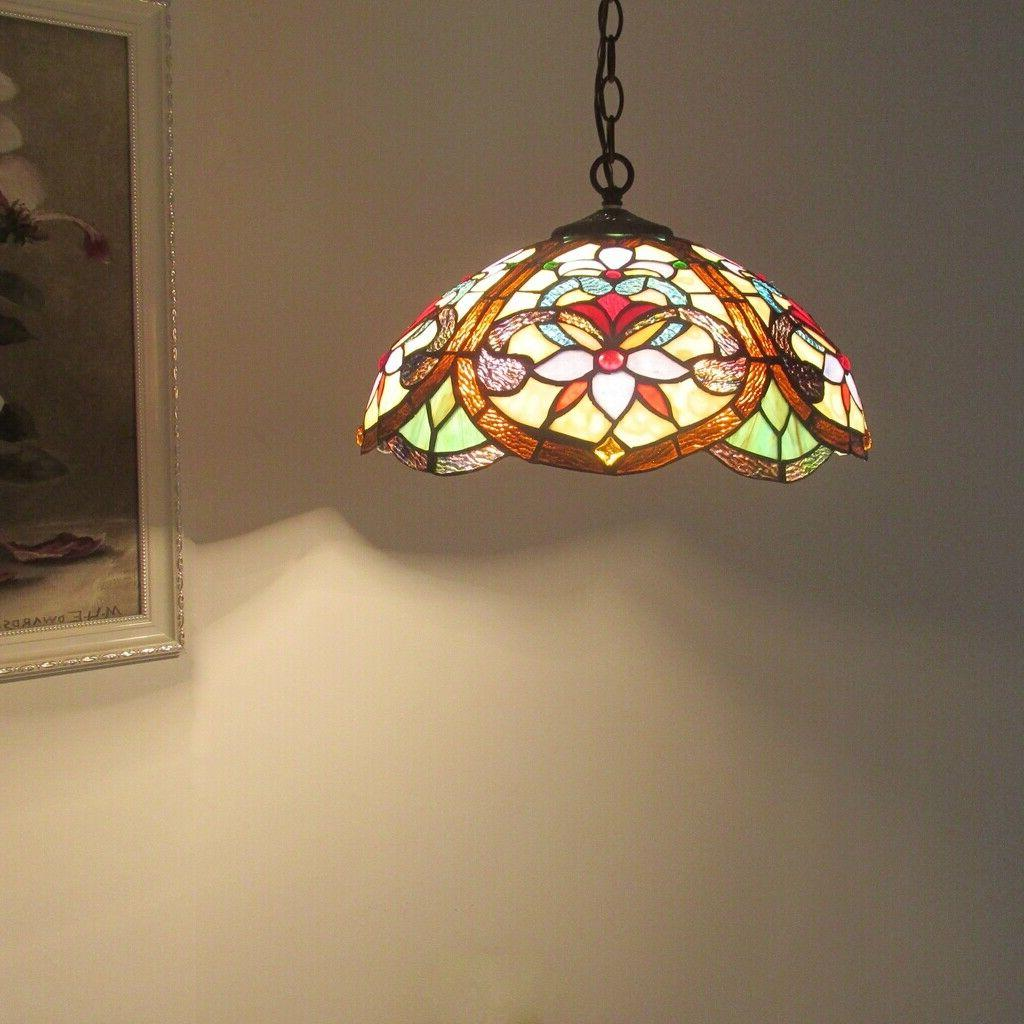 Tiffany Style Ceiling Pendant 2-Light Hanging