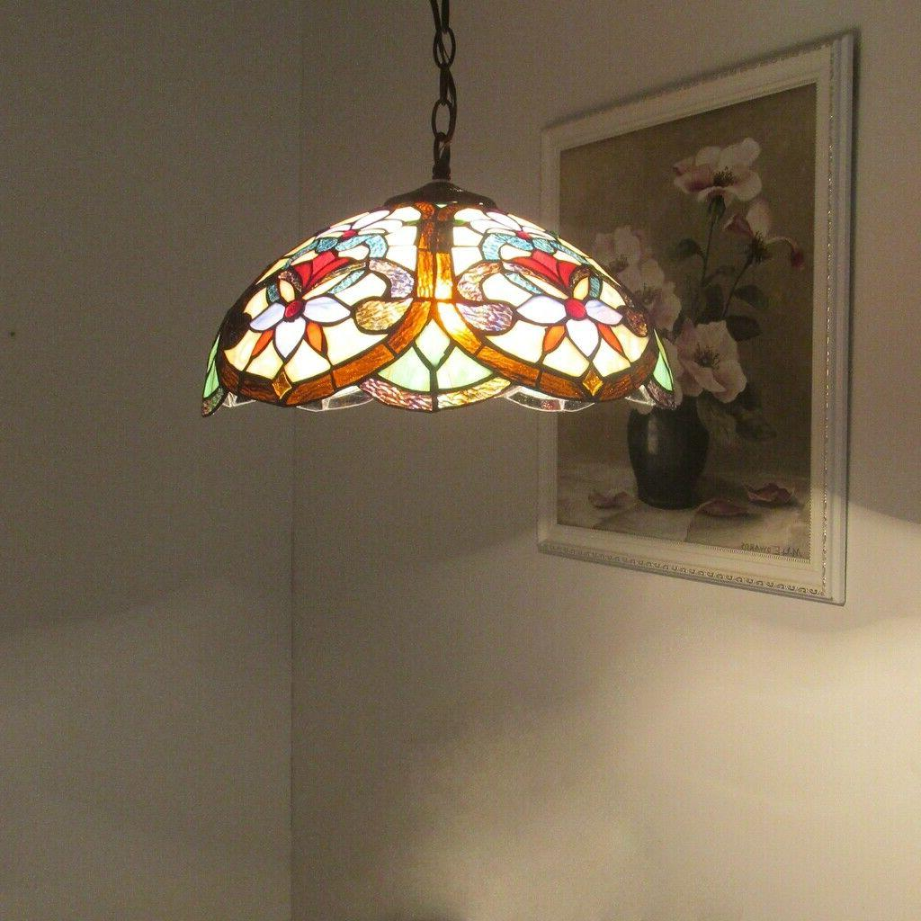 Tiffany Stained Ceiling Pendant 2-Light Hanging