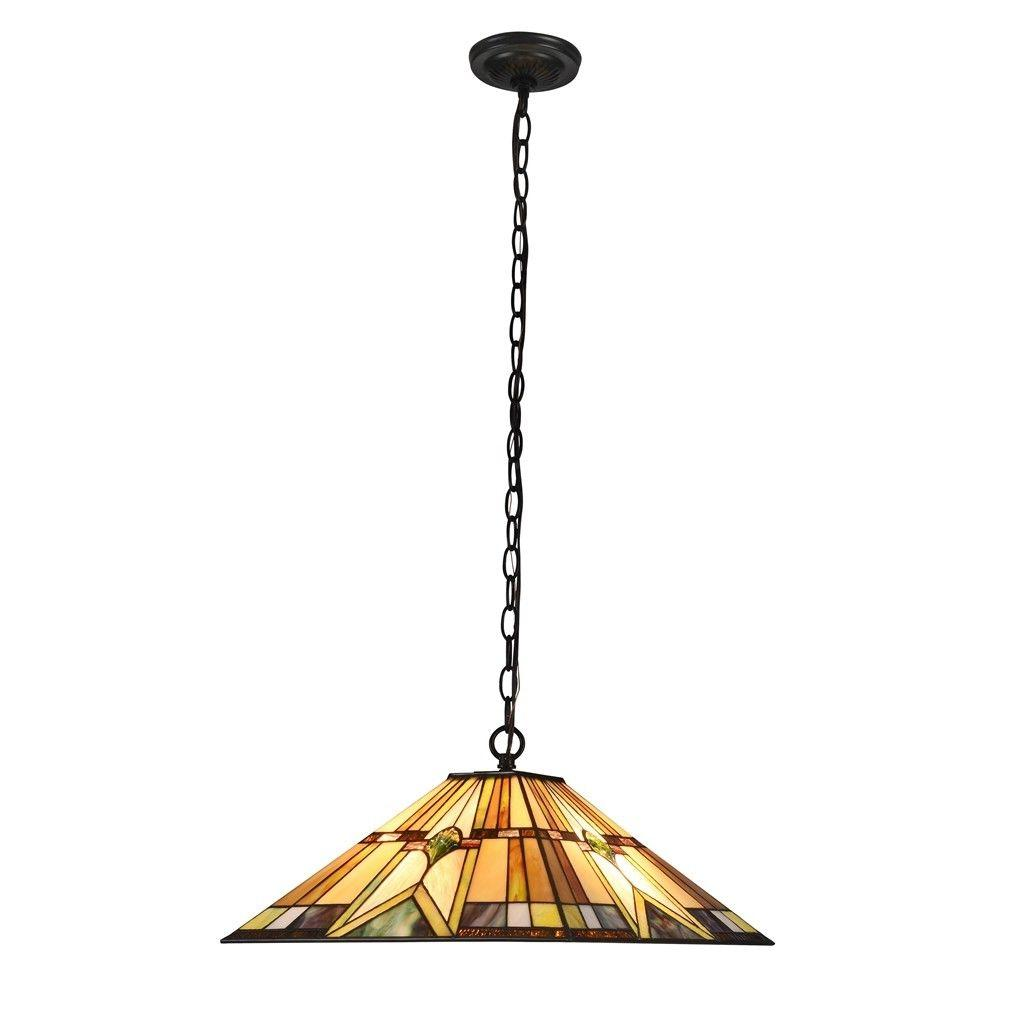 Tiffany Style Ceiling Pendant 2-Light Hanging Lamp