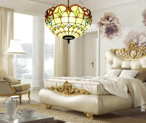 tiffany style stained glass lamp shade ceiling
