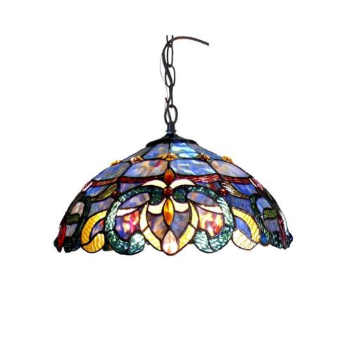 tiffany style victorian ceiling lamp ch18091pv18 dh2
