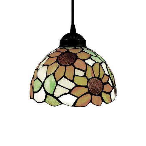Tiffany Sunflower Stained Glass Shade Ceiling Lamp Hanging