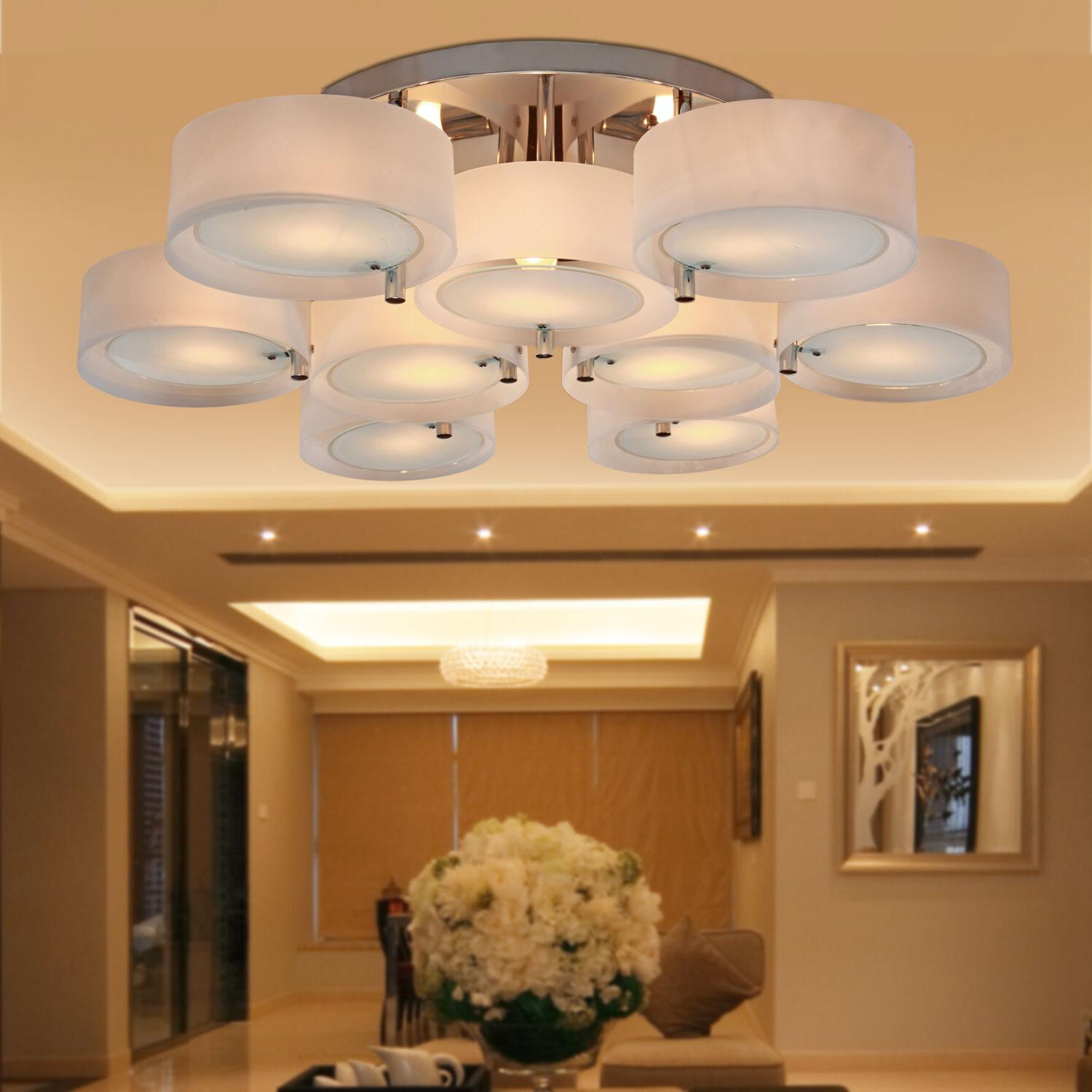 Top Modern Round Acrylic Chandelier Lighting Pendant Lights