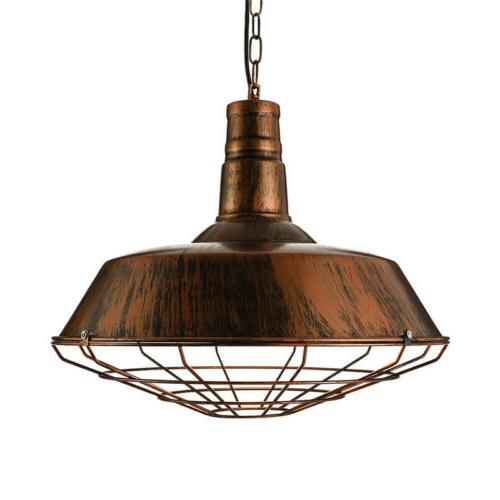 Vintage Rustic Cage Pendant Light Ceiling Lamp
