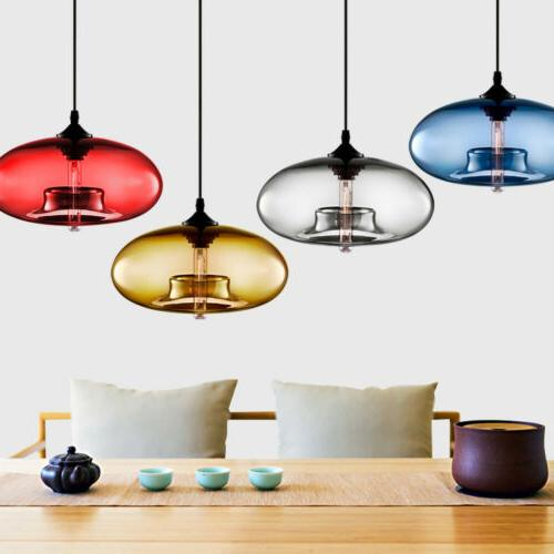 Vintage Pendant Ceiling Colorful Glass Droplight