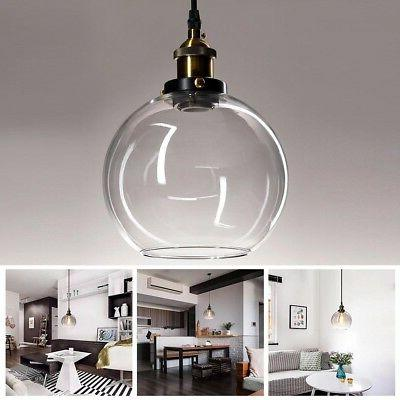 Vintage Glass Ceiling Pendant Chandelier Industrial Light Ro