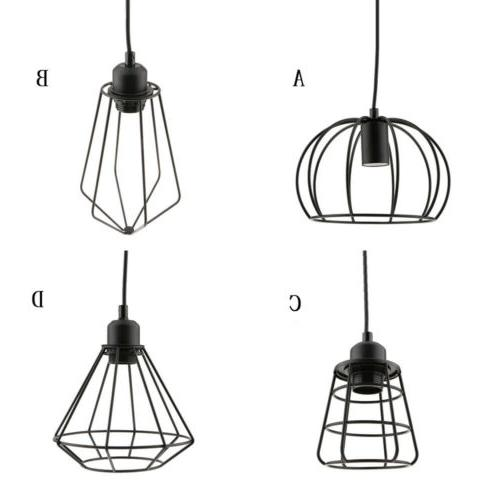vintage lamp cage pendant light shade lamps