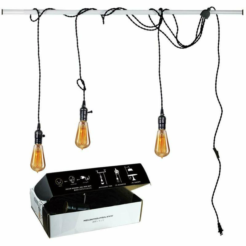vintage pendant light kit plug in hanging