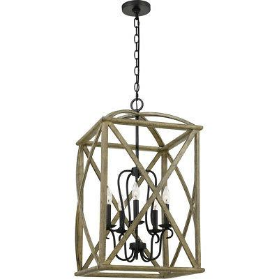 Quoizel WHN5205DW Woodhaven Foyer Pendant Distressed Weather