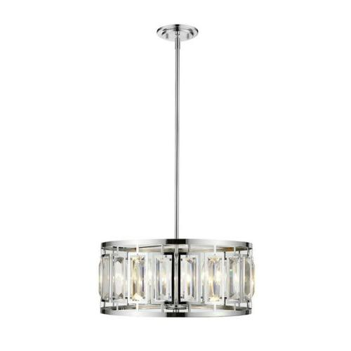 z lite mersesse 5 light pendant chrome