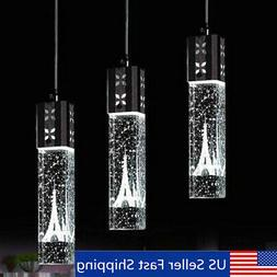 LED Tower Crystal Bubble Light Chandelier Ceiling Pendant La