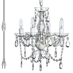 The Original Gypsy Color 4 Light Plug-in Pendant Chandelier