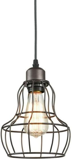 YOBO Lighting Minimalist 1-Light Oil Rubbed Bronze Hanging P