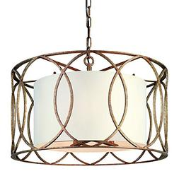 Troy Lighting Sausalito 5-Light Chandelier - Silver Gold Fin