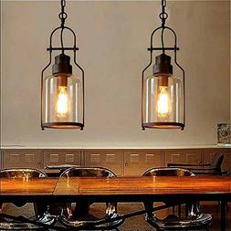 "SUSUO Lighting 6"" Wide Vintage Industrial Glass Pendant Ceil"