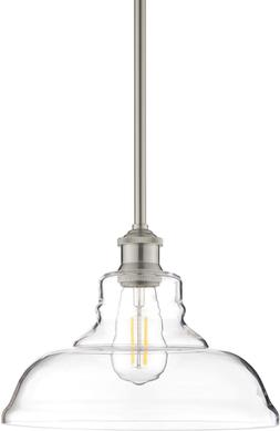 Lucera LED Contemporary Kitchen Pendant Light - Brushed Nick