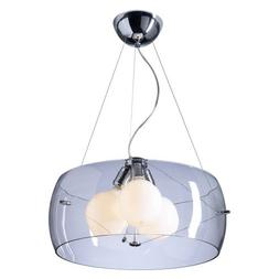 PLC Lighting 81558 PC Lumisphere Collection 3 Light Pendant,