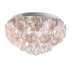Luxury Crystal Pendant Ceiling Light, Creative Glass Flower