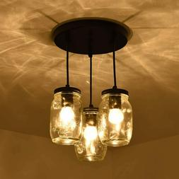 Mason Jar Kitchen Island Lights 3 Lights Ceiling Fixture Pen