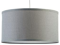 Messina Drum Pendant Ceiling Light - Heather Gray Shade - Li