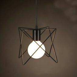 Metal Wire Cage Hanging Lamp Shade Plug In Ceiling Chandelie