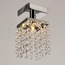 Mini Pendant Crystal Light Fixture Chrome Ceiling Hanging Ch