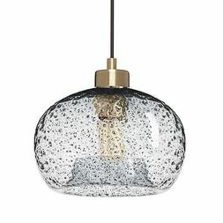 Casamotion Mini Pendant Light Handblown Rustic Seeded Glass