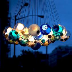 Modern Chic Bocci Cluster Pendant Light with Multi-color Han
