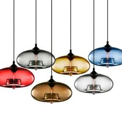 Modern Colored Glass Pendant Lamp Ceiling Light Chandelier L